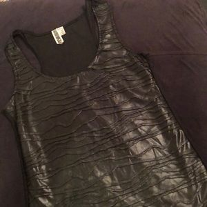 Black tank with mesh back